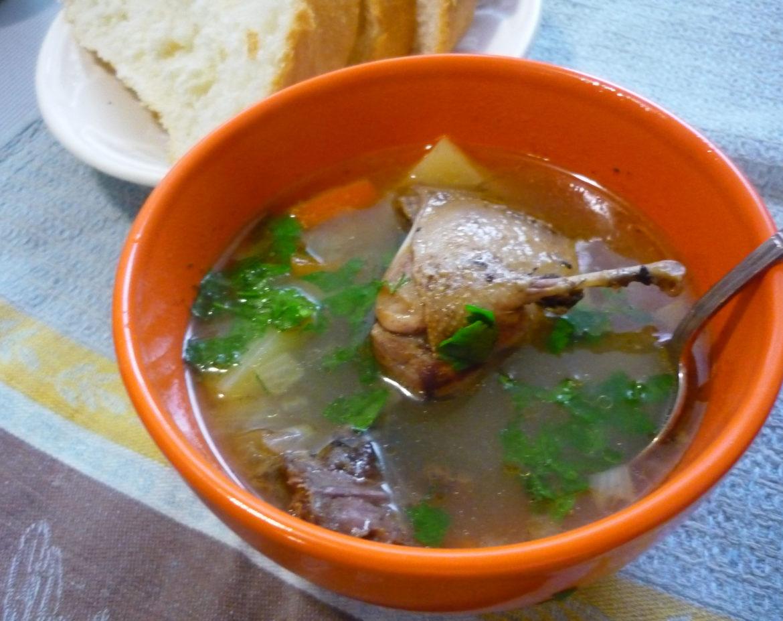 Суп из дикой утки с лапшой рецепт